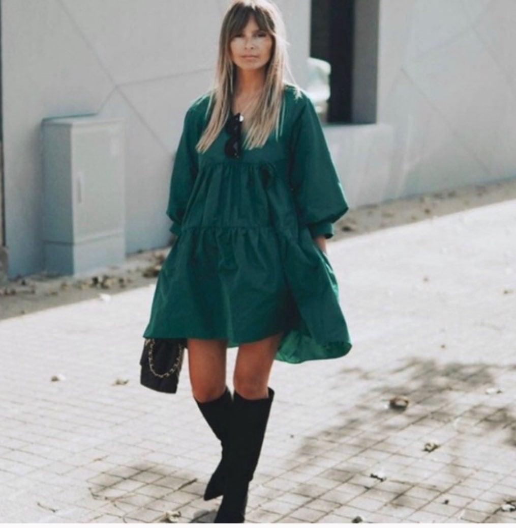 ZARA Taffeta mini dress Sz medium