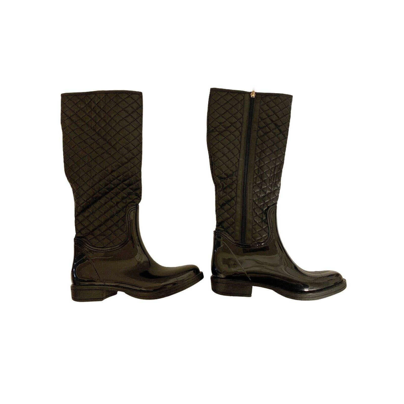 Nomad black quilted axel Rain Boot 9