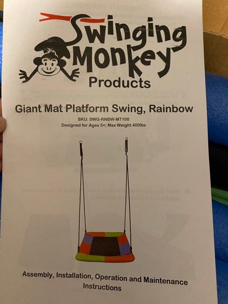 Giant Mat Platform Swing, Rainbow