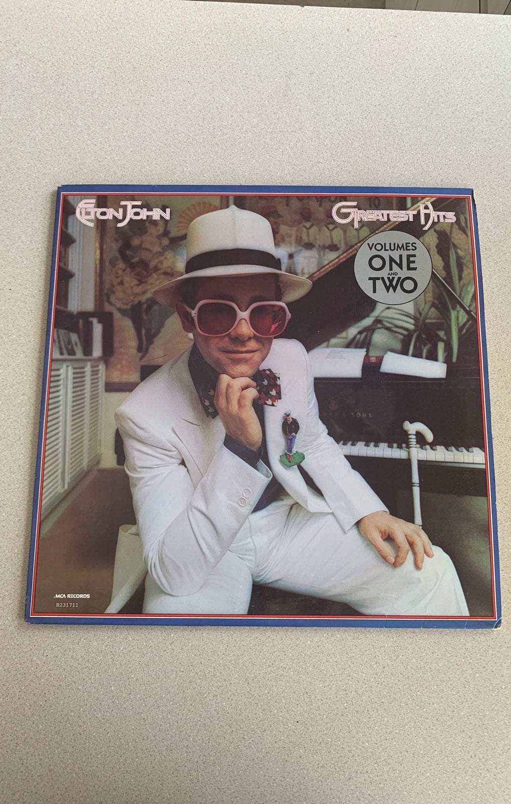 Vintage Elton John Greatest Hits LP Viny