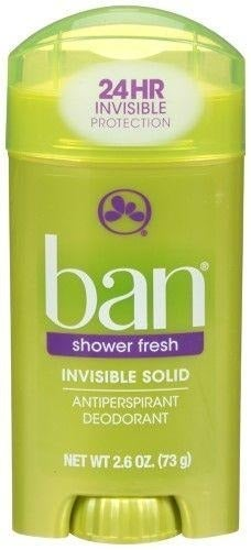 2 PACK Ban Shower Fresh Invisible Solid