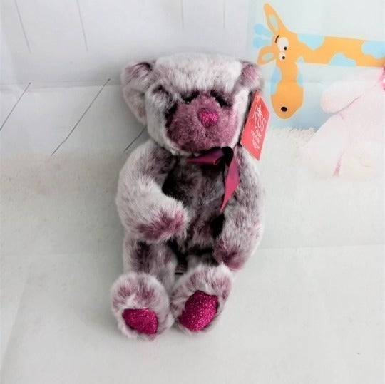 Russ Berrie IRIS Purple Bear Plush #2084