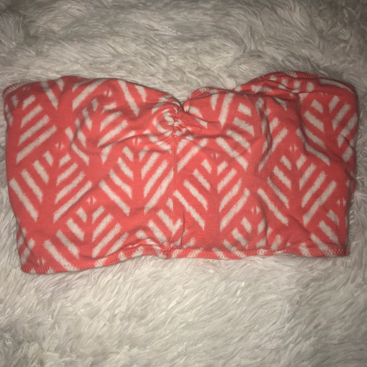 SMALL CORAL HOLLISTER BANDEAU
