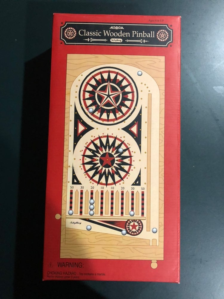 Classic Wooden Pinball Game