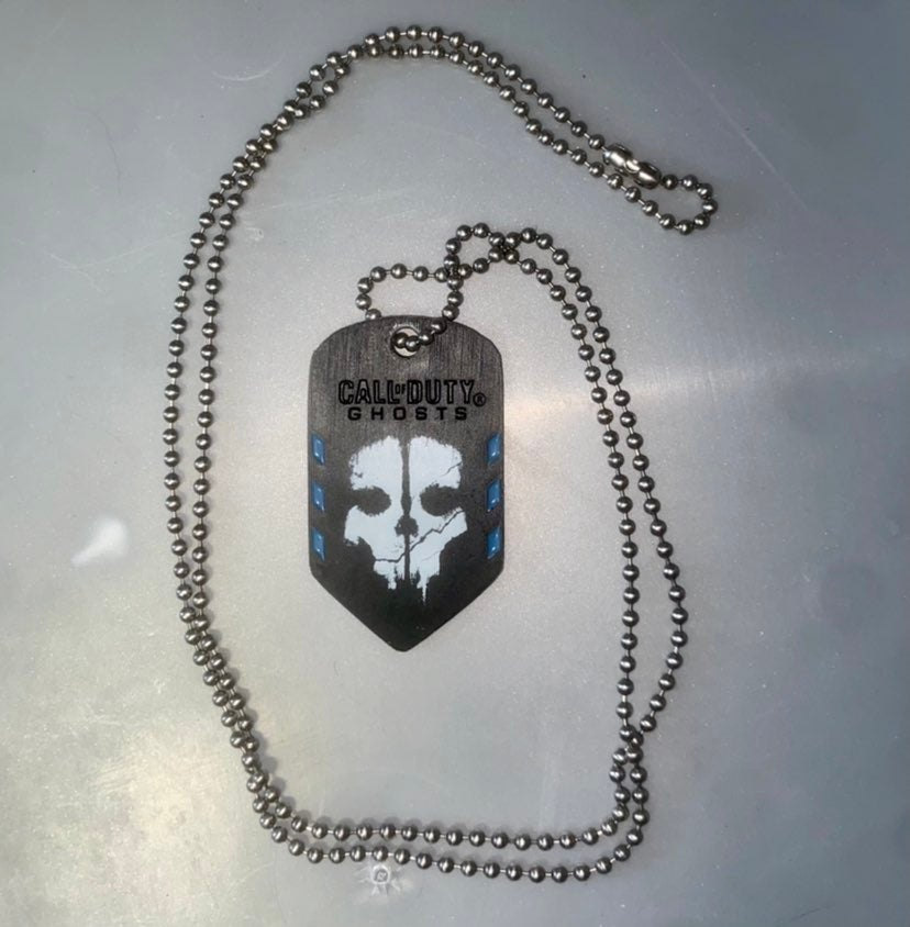 Call of Duty Ghosts Dogtag Necklace