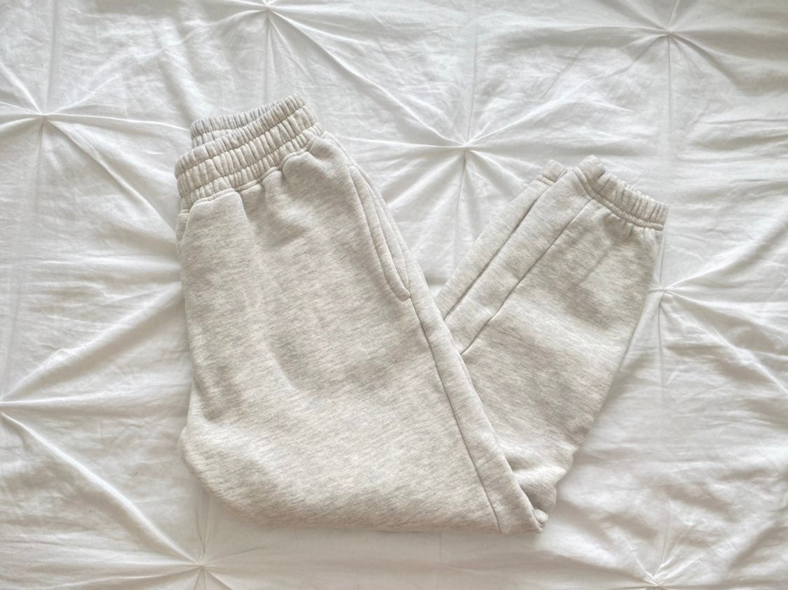 Missguided Gray/Cream Joggers