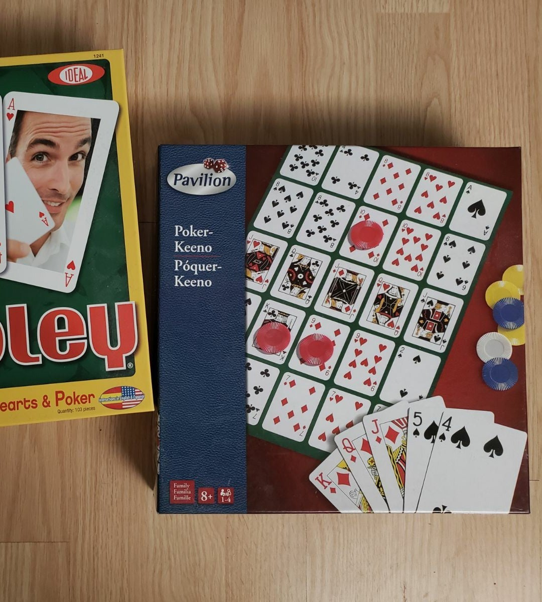 Family games Tripoly and Pokerkeeno