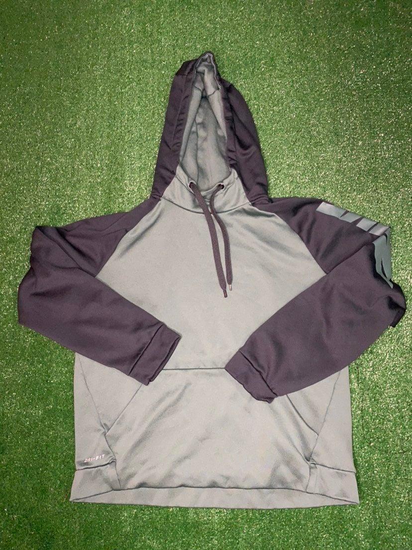 Nike Fleece hoodie mens medium green bla