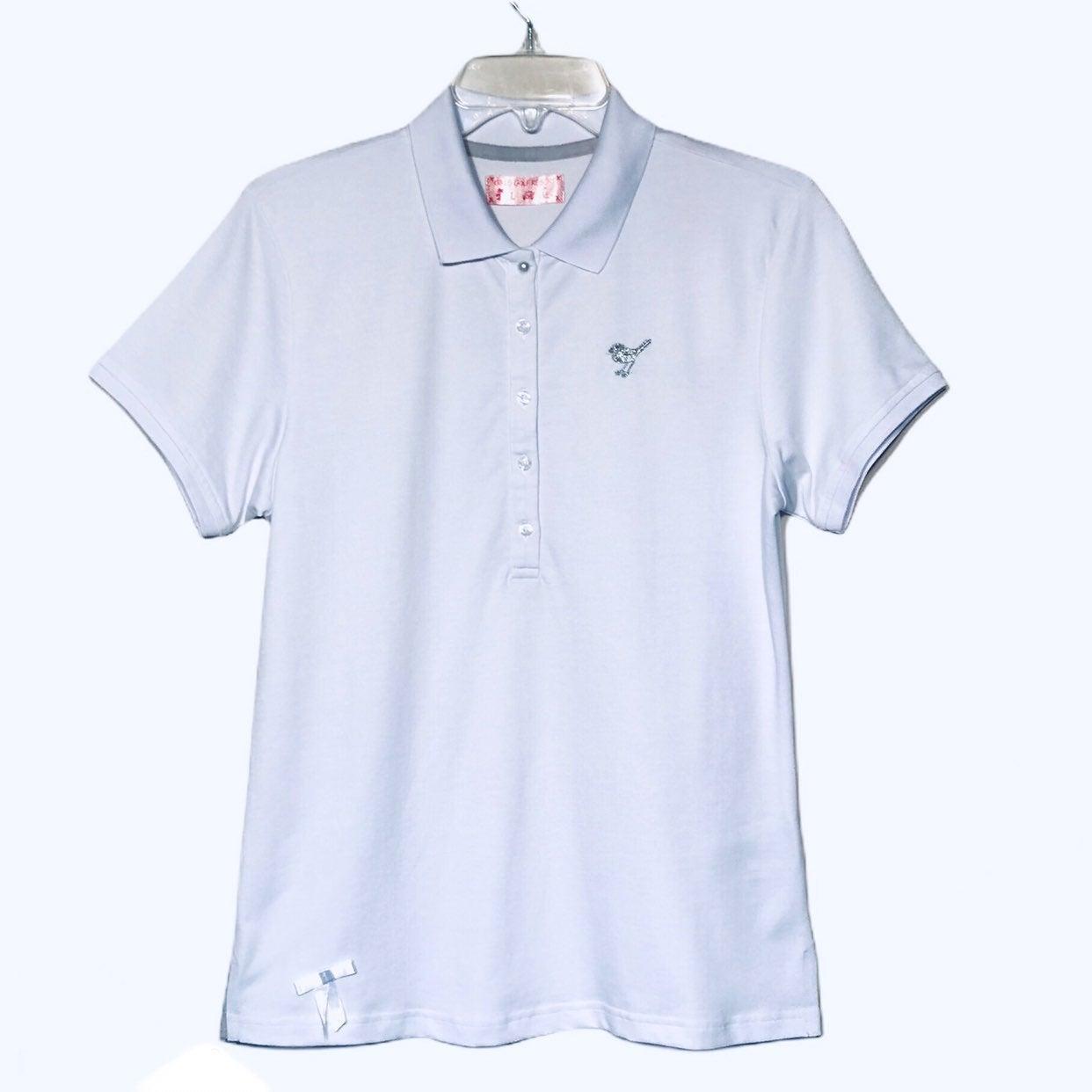 Girls Golf Short Sleeve White Golf Top