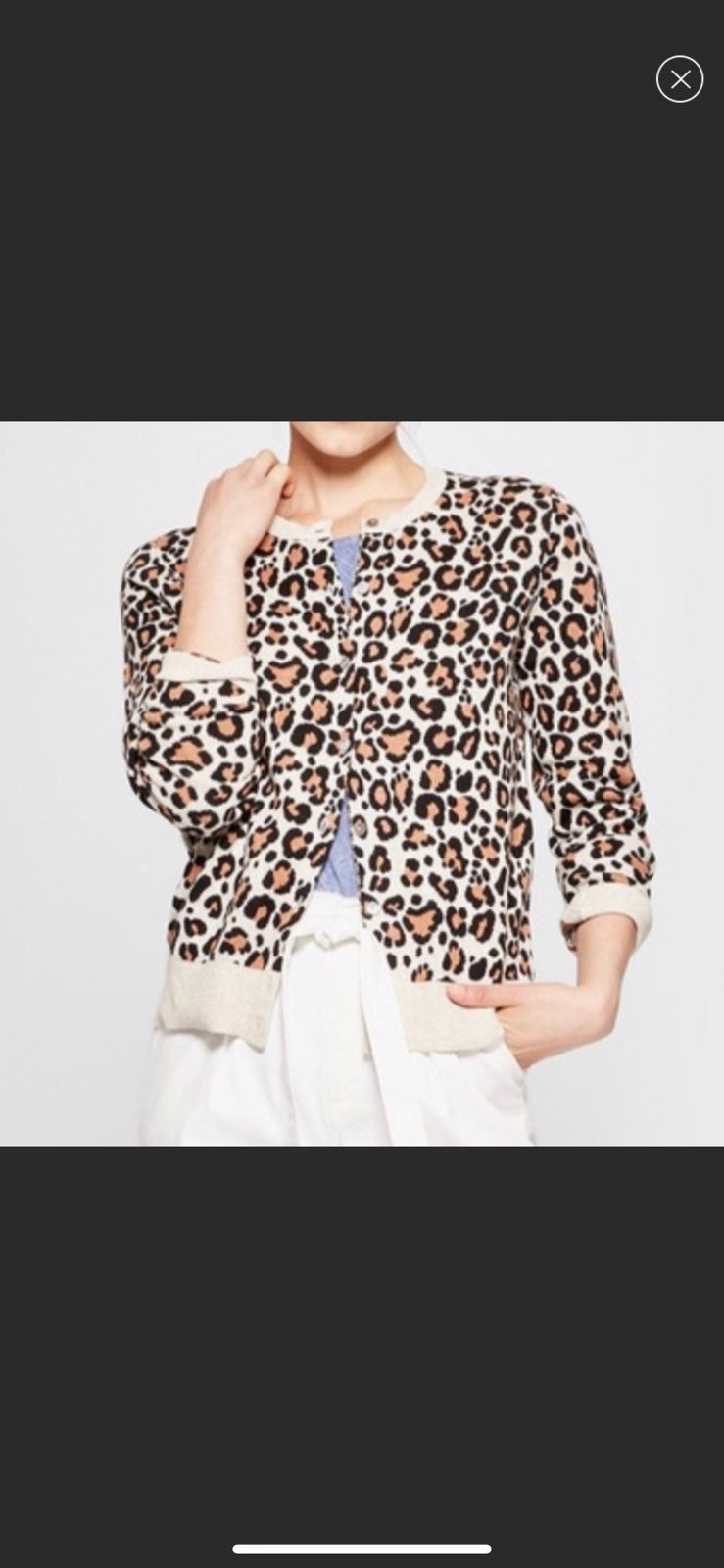 A new day leopard Cardigan
