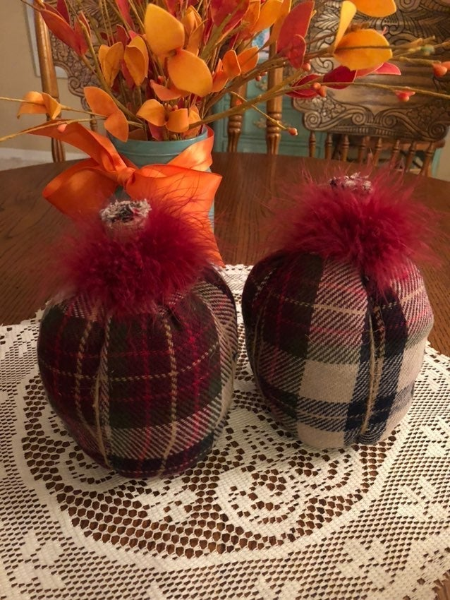 Handmade Fabric Pumpkins -Fall/Halloween
