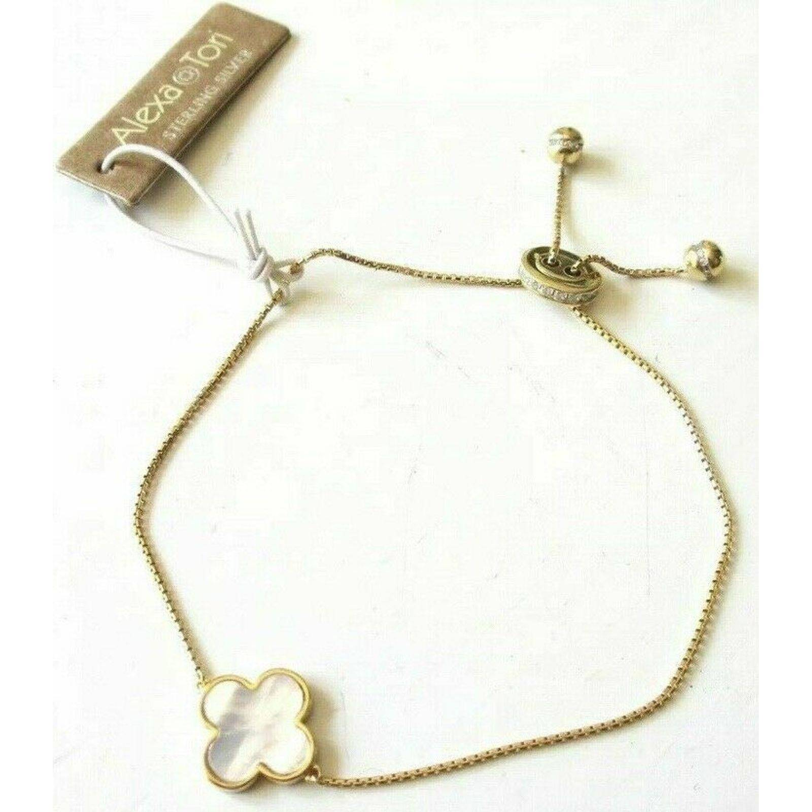 Alexa & Tori Clover Slider Bracelet New