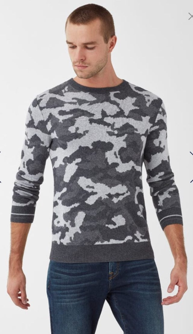 Splendid Mens Camo Crewneck Sweater