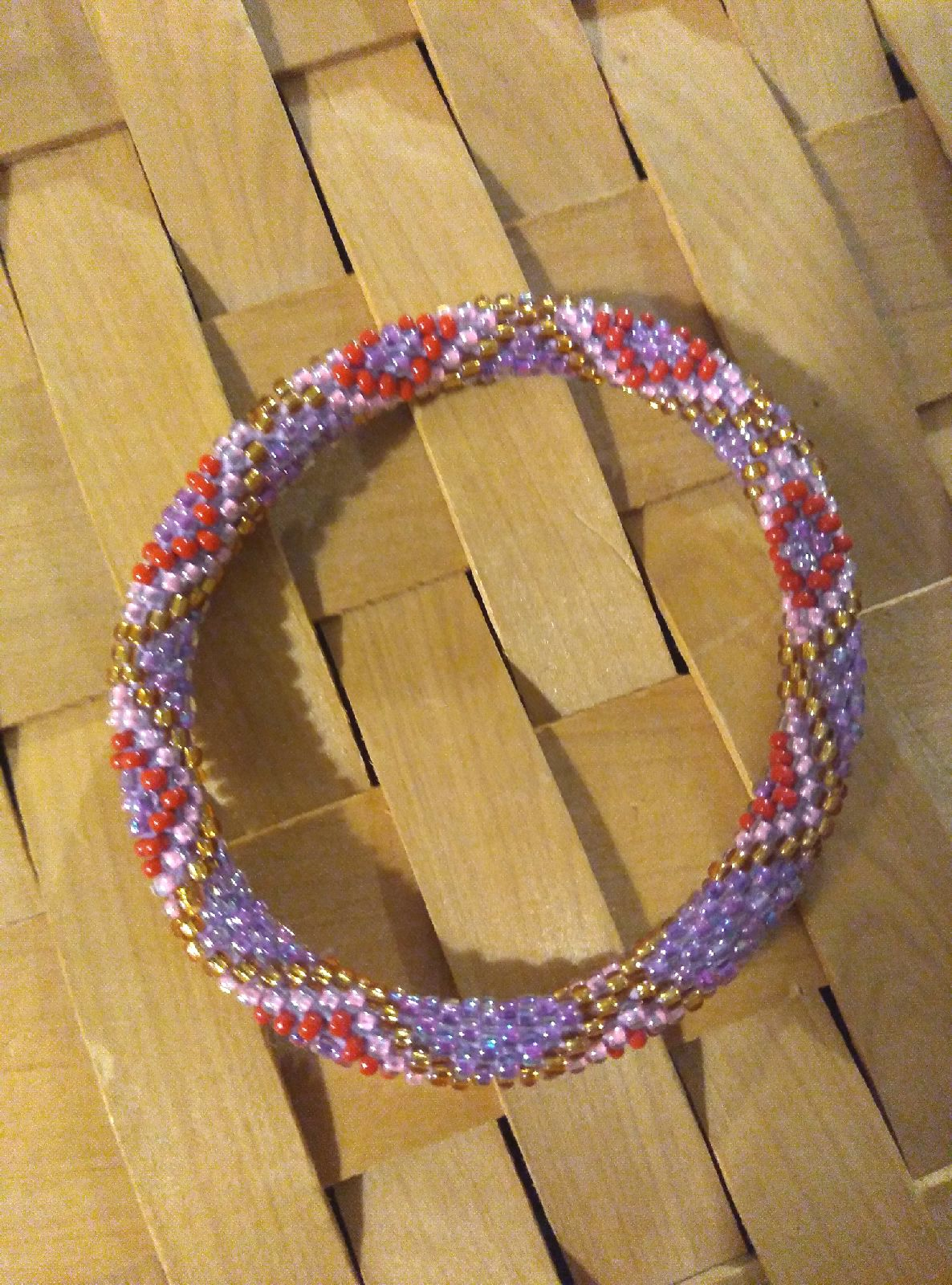 Nepali crochet beaded bracelet