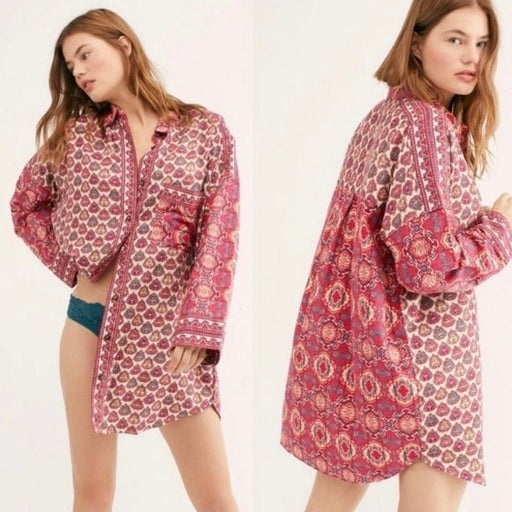 NWT Free People Sleep Shirt In A Bag Red