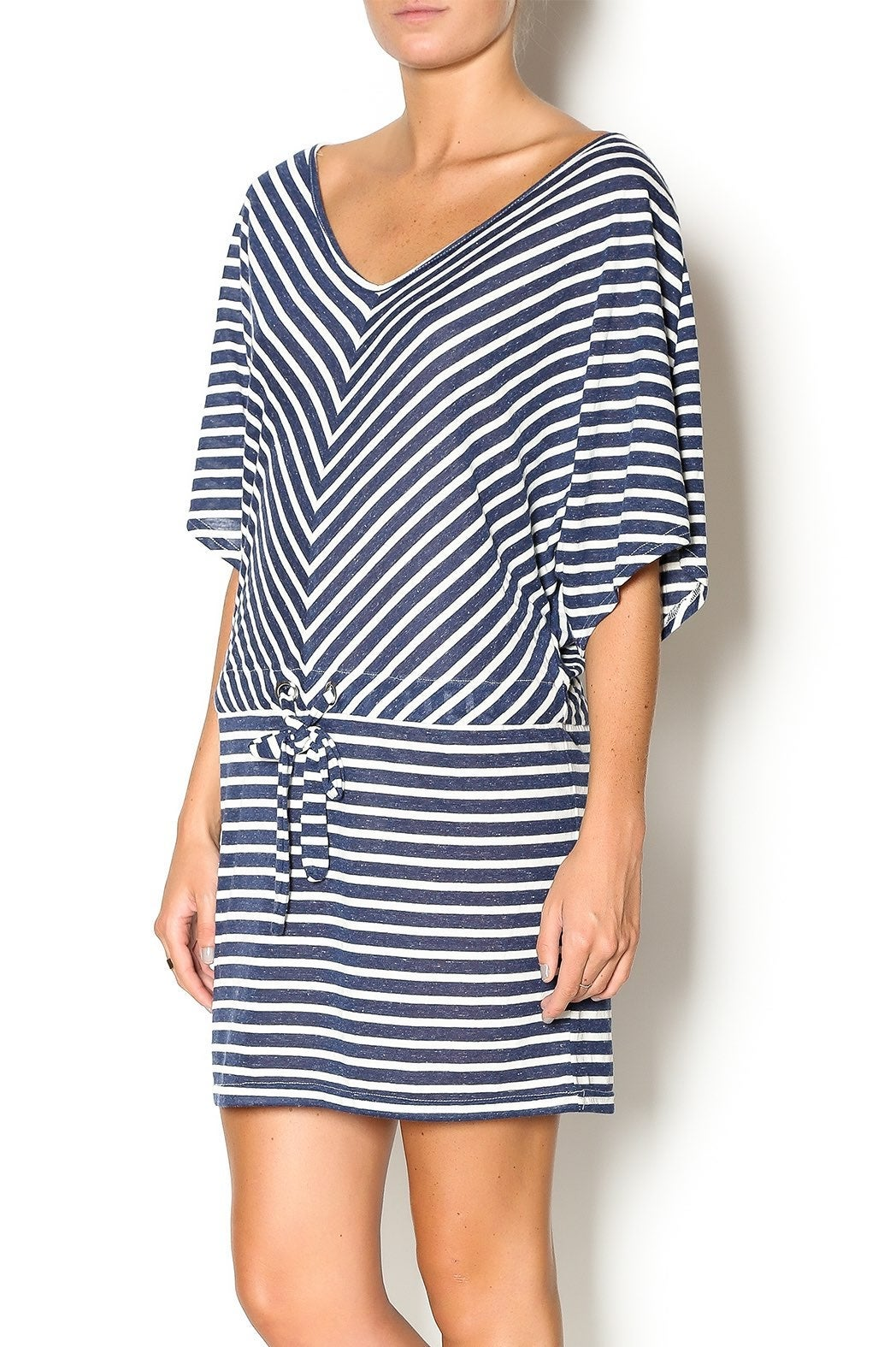 Umgee Nautical Stripe Tunic Swim Cover L
