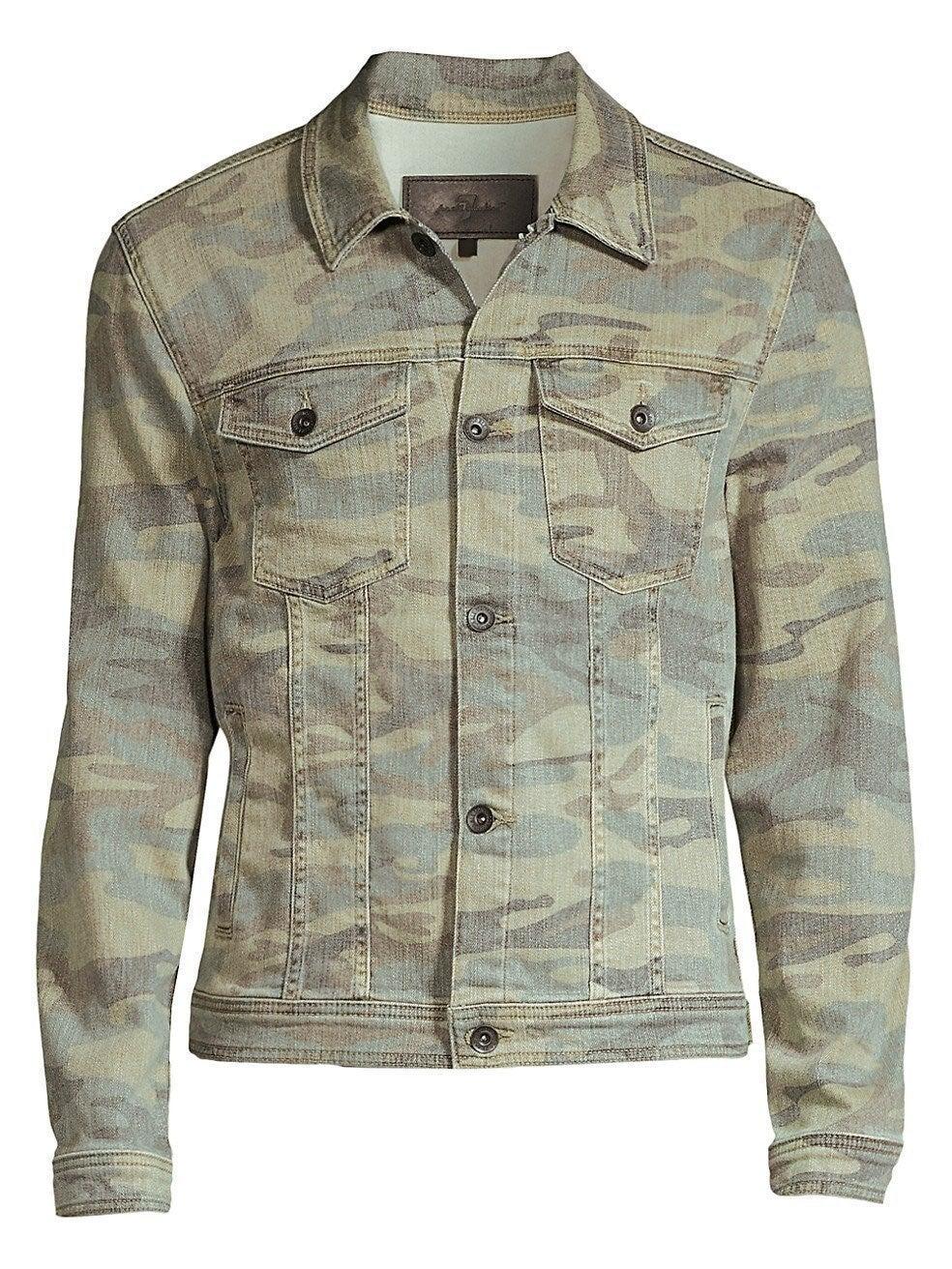 7 For All Mankind Camo Jacket, Medium