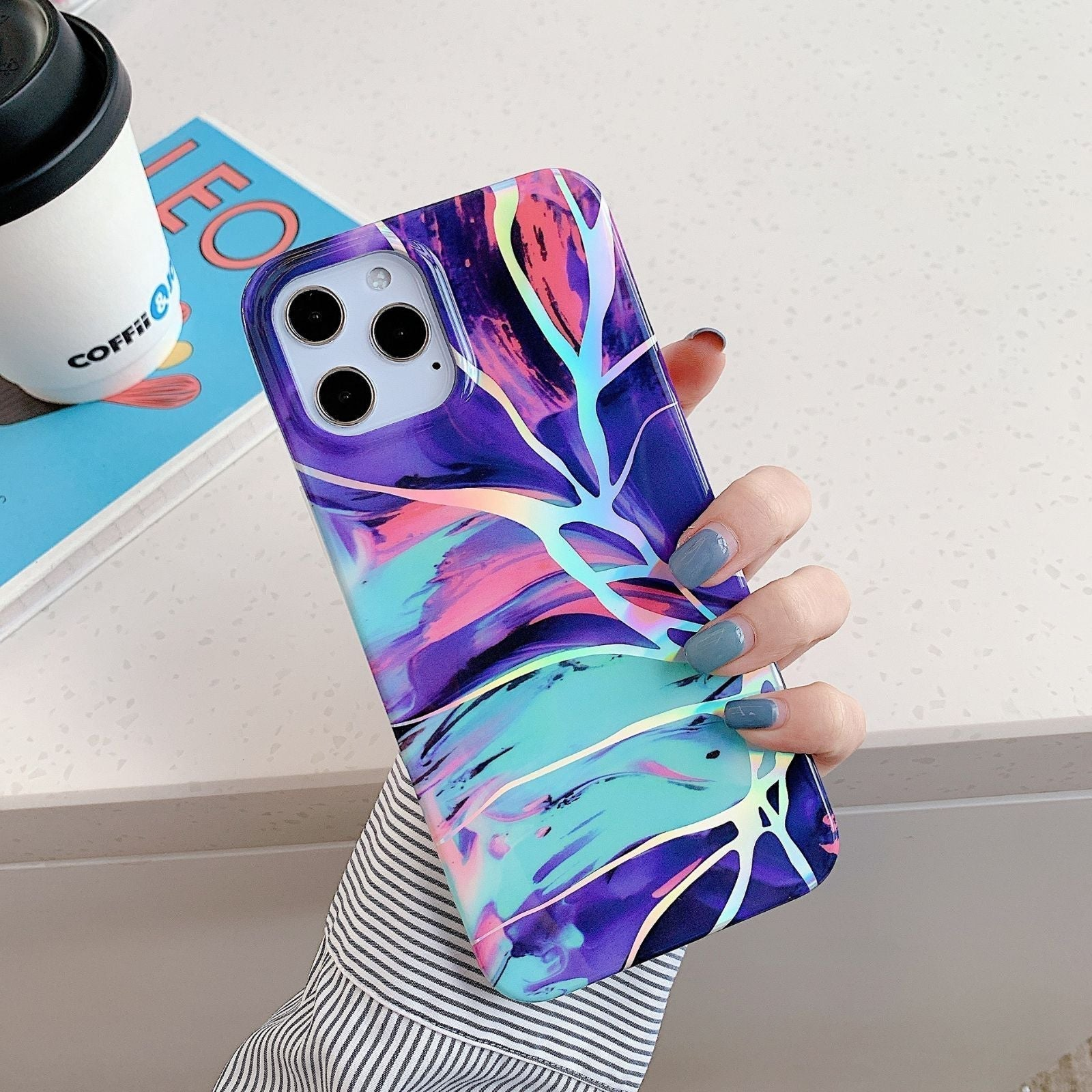 Iphone 12 Pro, 12 case Marble Glow