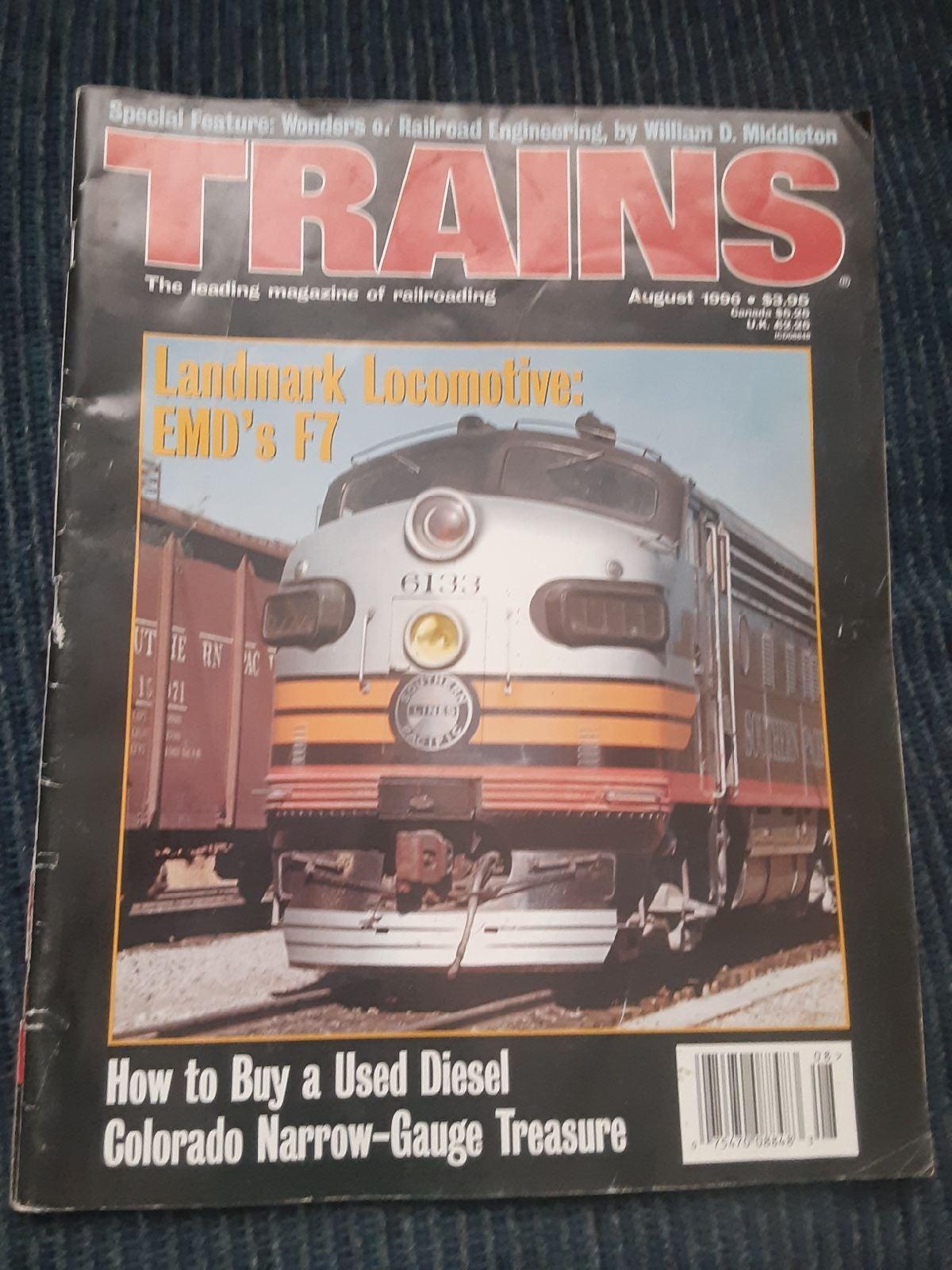 Trains magazine August 1996
