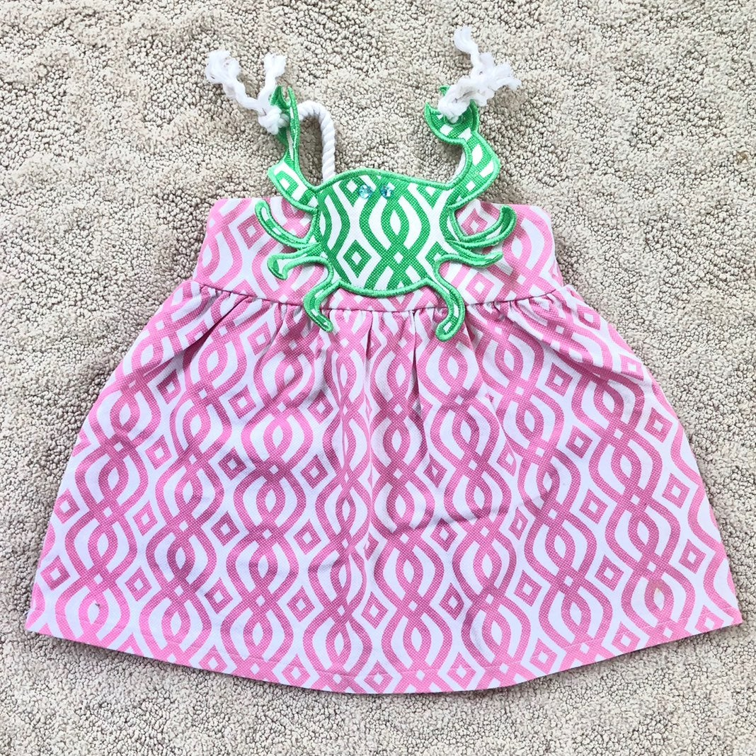 Mud pie crab dress sz 9-12m