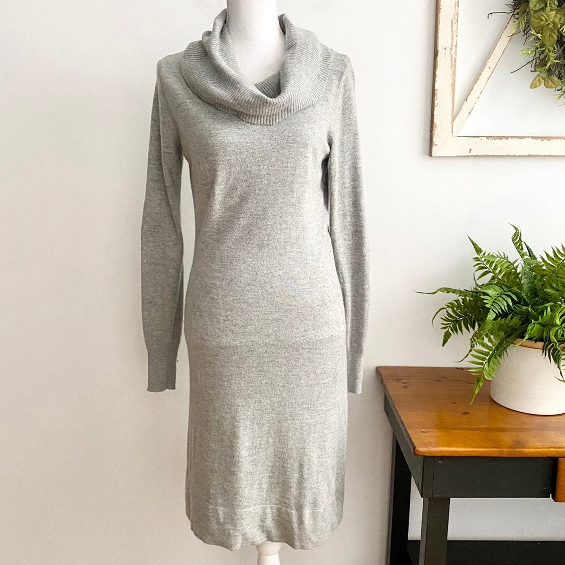 Lady Hathaway Gray Cowl Neck Sweater Dre