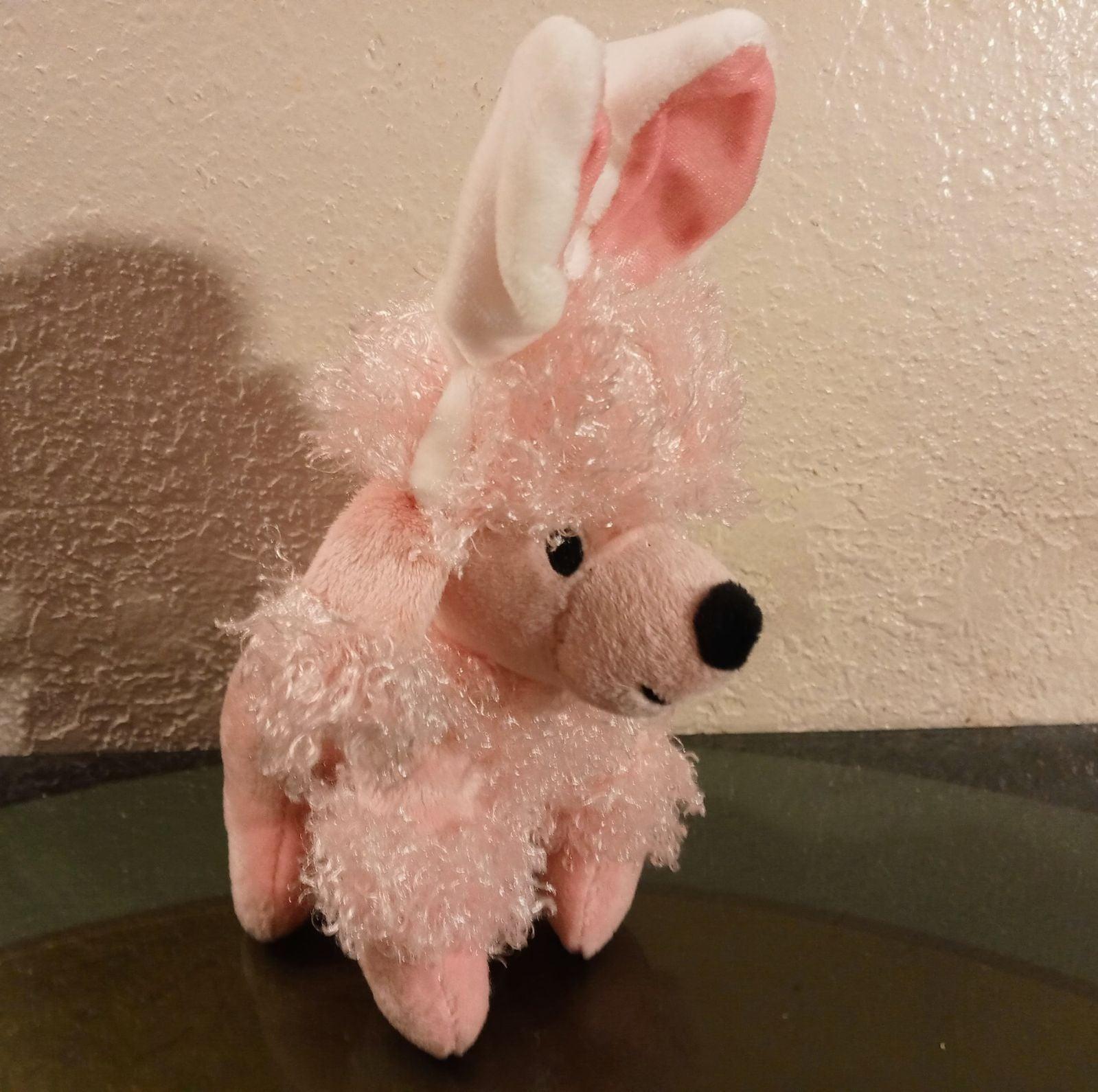 Dan Dee Pink Poodle Plush Dog