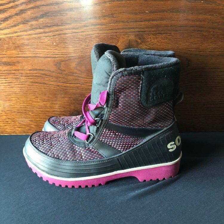 SOREL Waterproof Trivoli Boots Pink/Blac