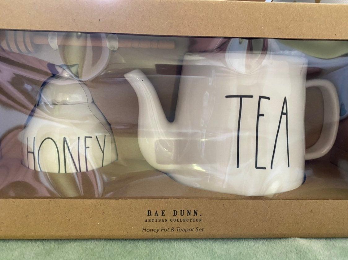 Rae Dunn Honey Pot & Teapot Set