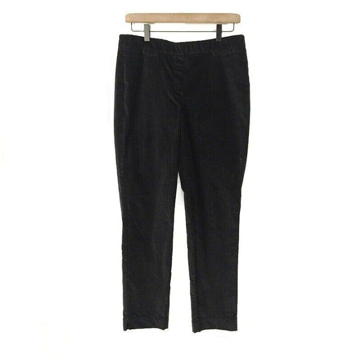 J. Jill Corduroy Pants Pull On Black 8