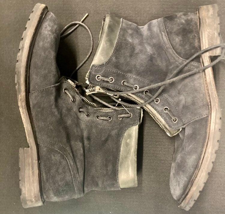 Allsaints Zip Lace Up Suede Boots Charco