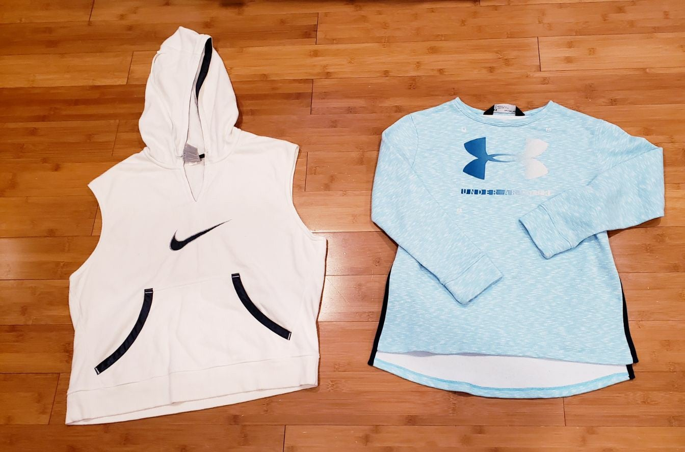 Nike vest and under armour crewneck