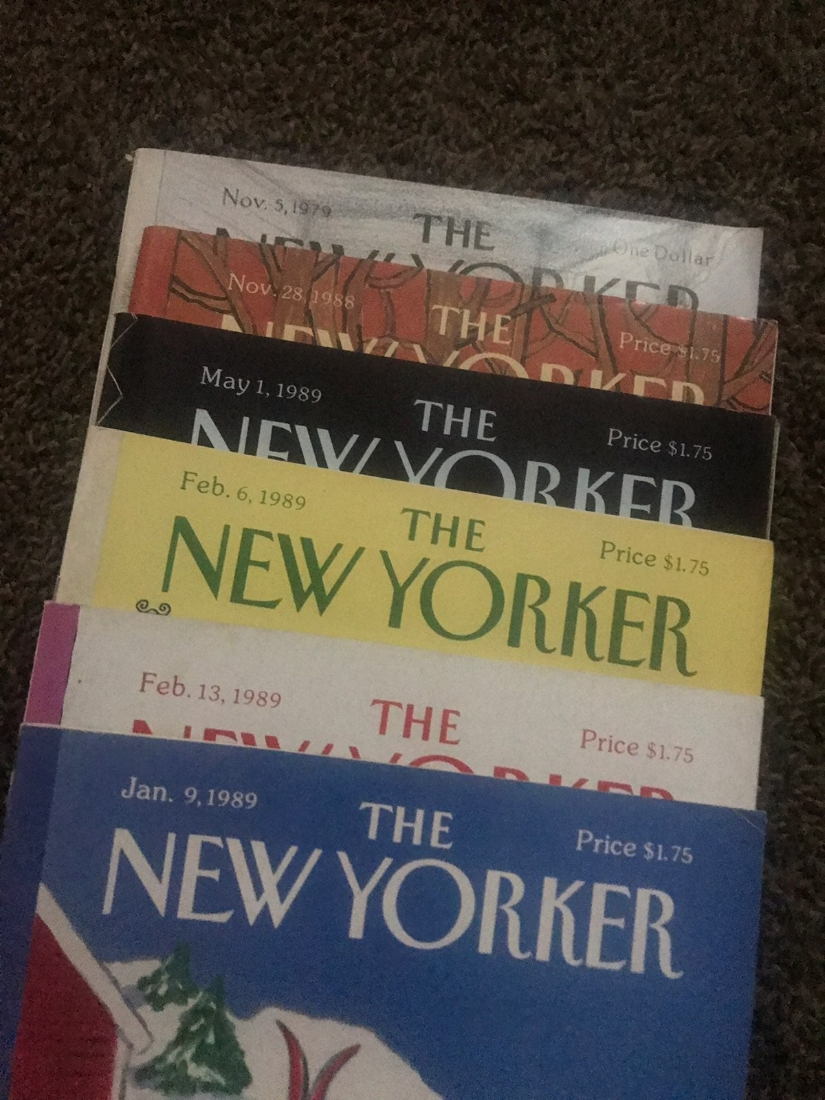 The New Yorker Magazines. 1979 & 1989
