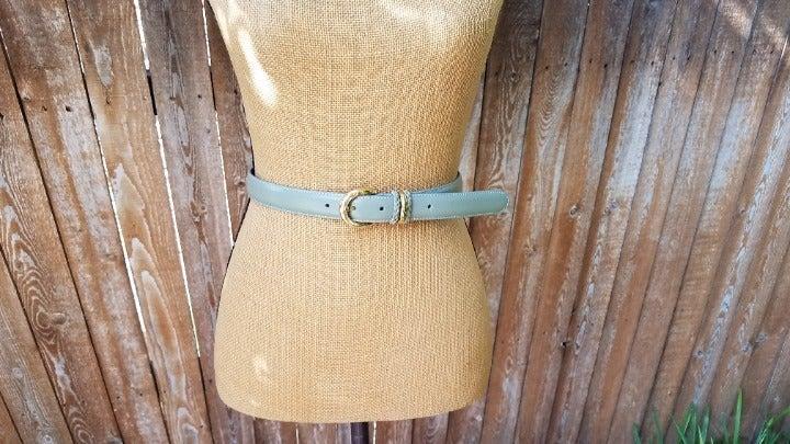 Talbots Sage Green Leather Belt