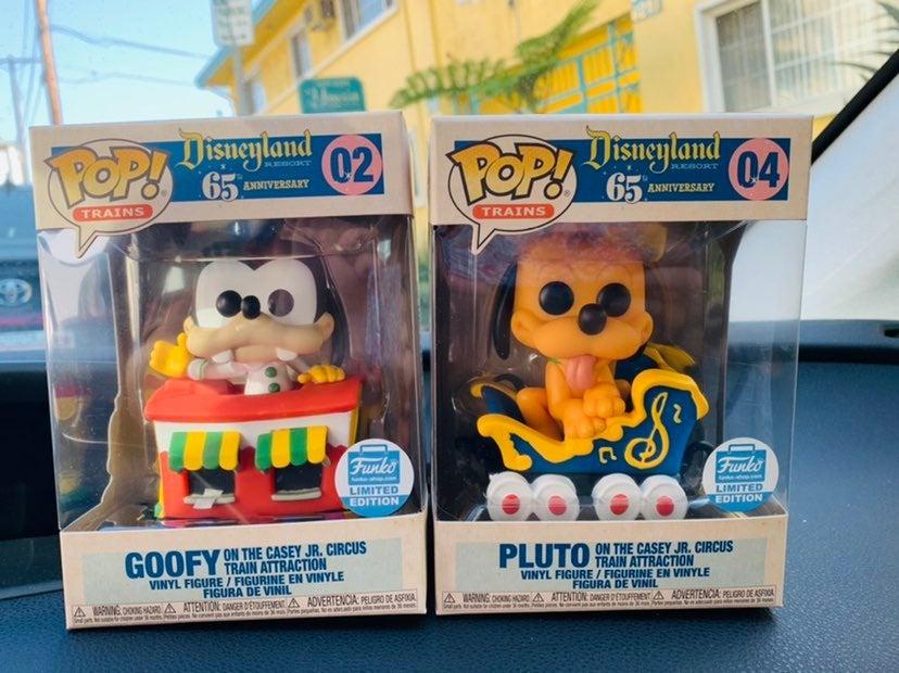 Funko pop Pluto Goofy Disney train set