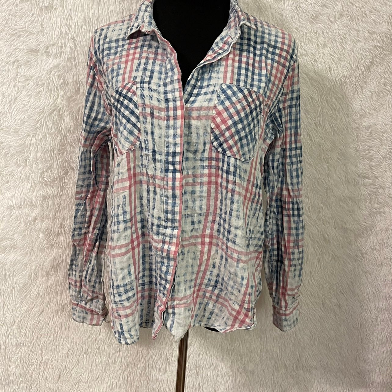 Cotton On Button Down Plaid Shirt