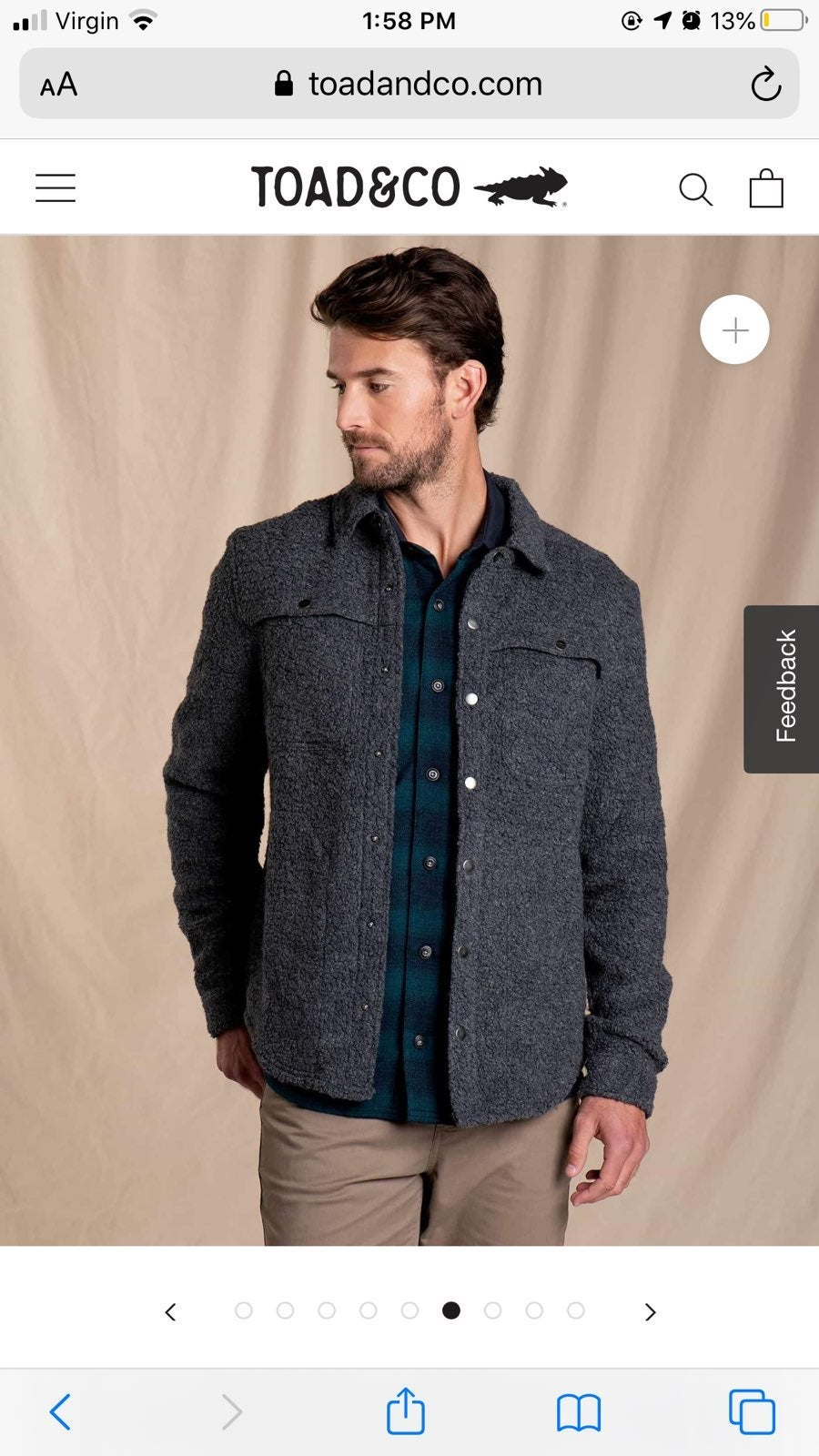 Toad & co telluride gray wool jacket