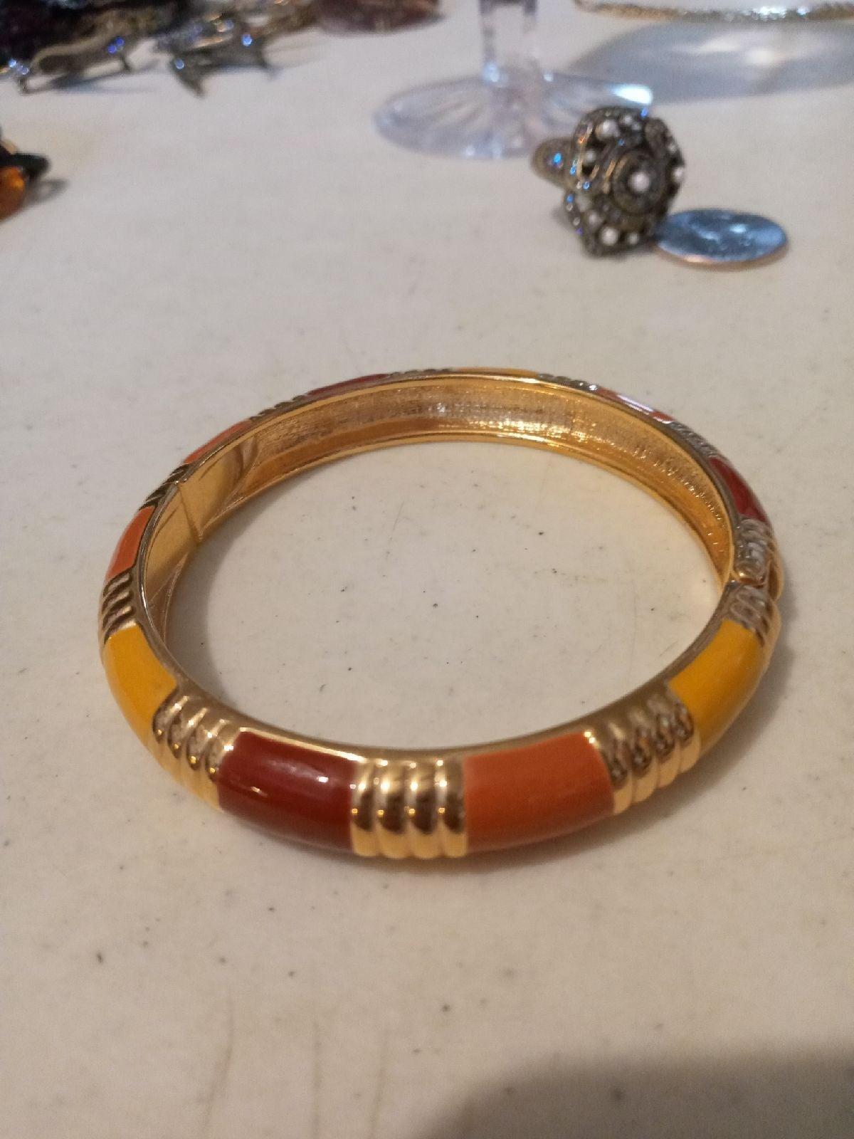 Joan Rivers enamel bracelet goldtone