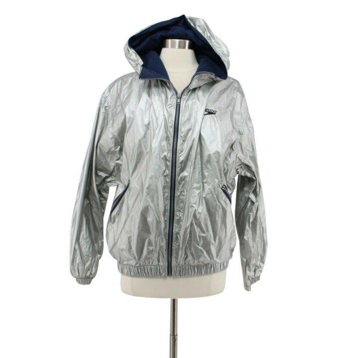 Vintage Speedo Silver Zip Hoodie Jacket