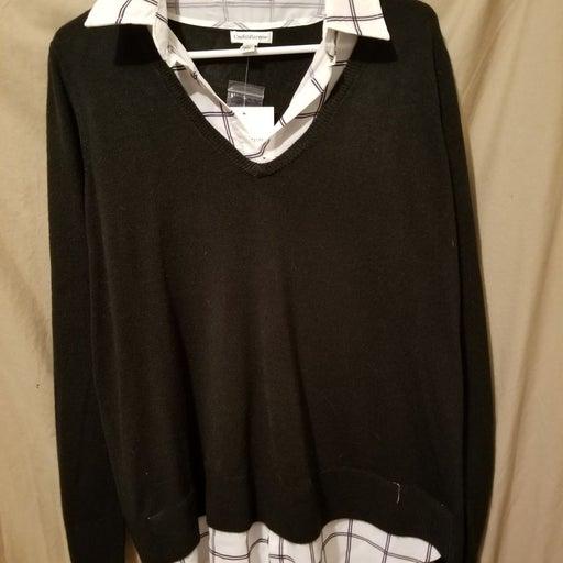 One piece knit blouse