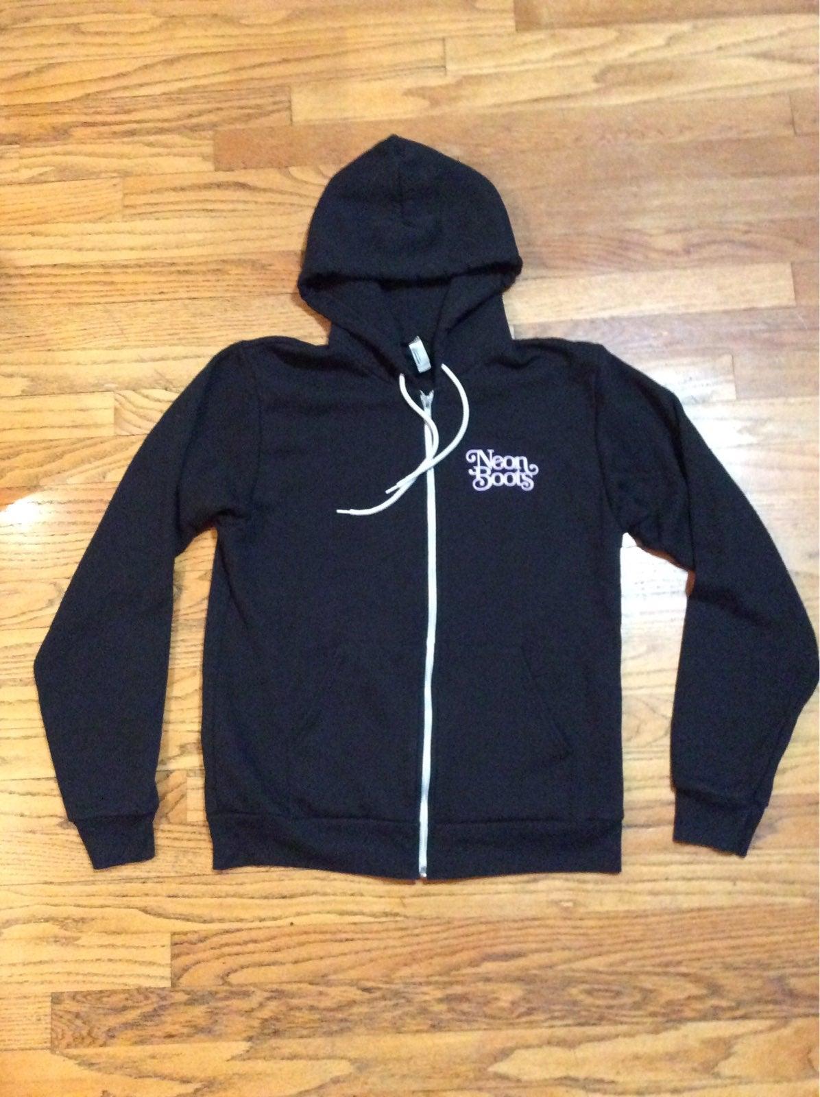 Neon Boots Hooded Full Zip Sweatshirt