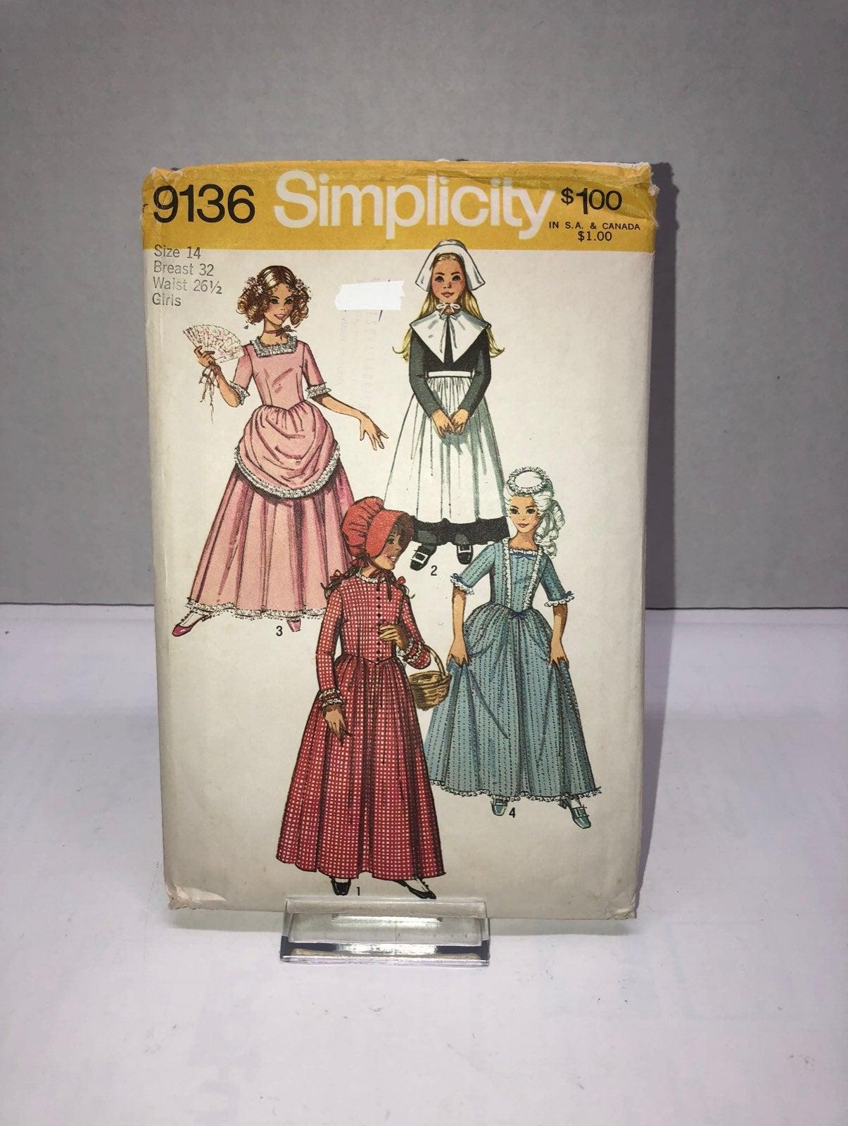 Simplicity 9136 Girls Costume Pattern