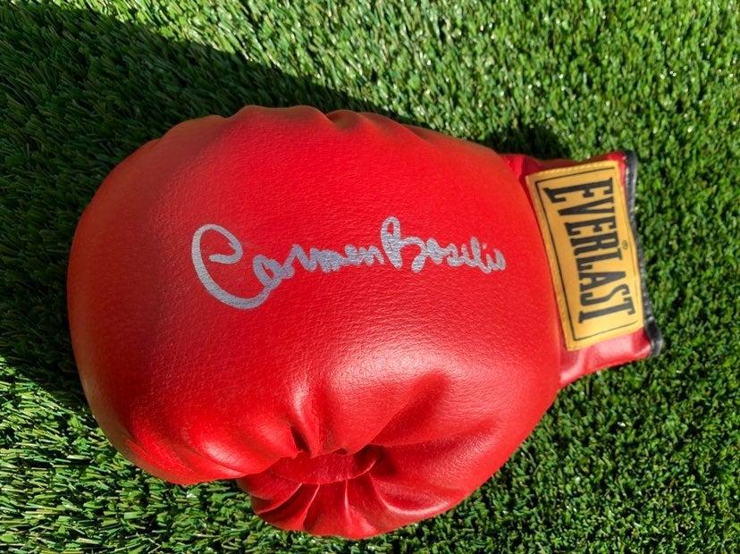 Carmen Basilio Autographed Boxing Glove