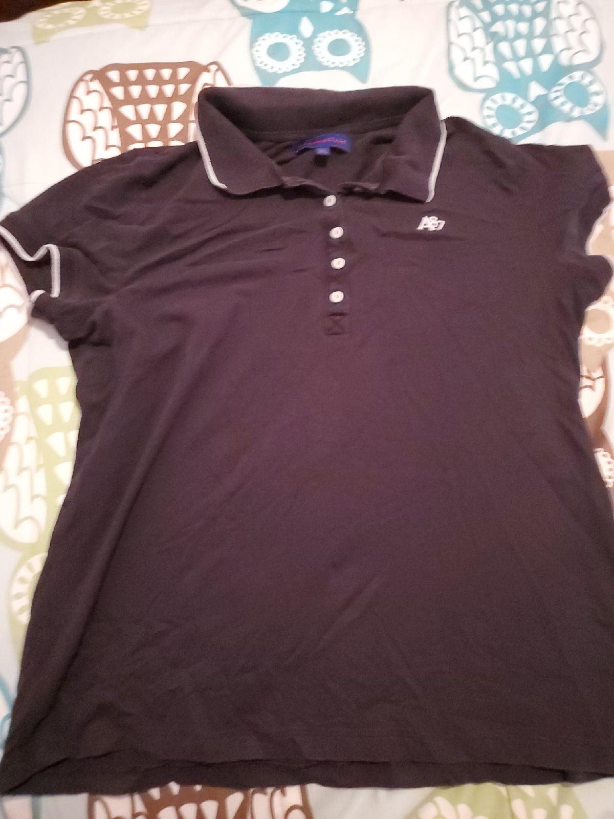 Aeropostale Women's Black Polo Shirt