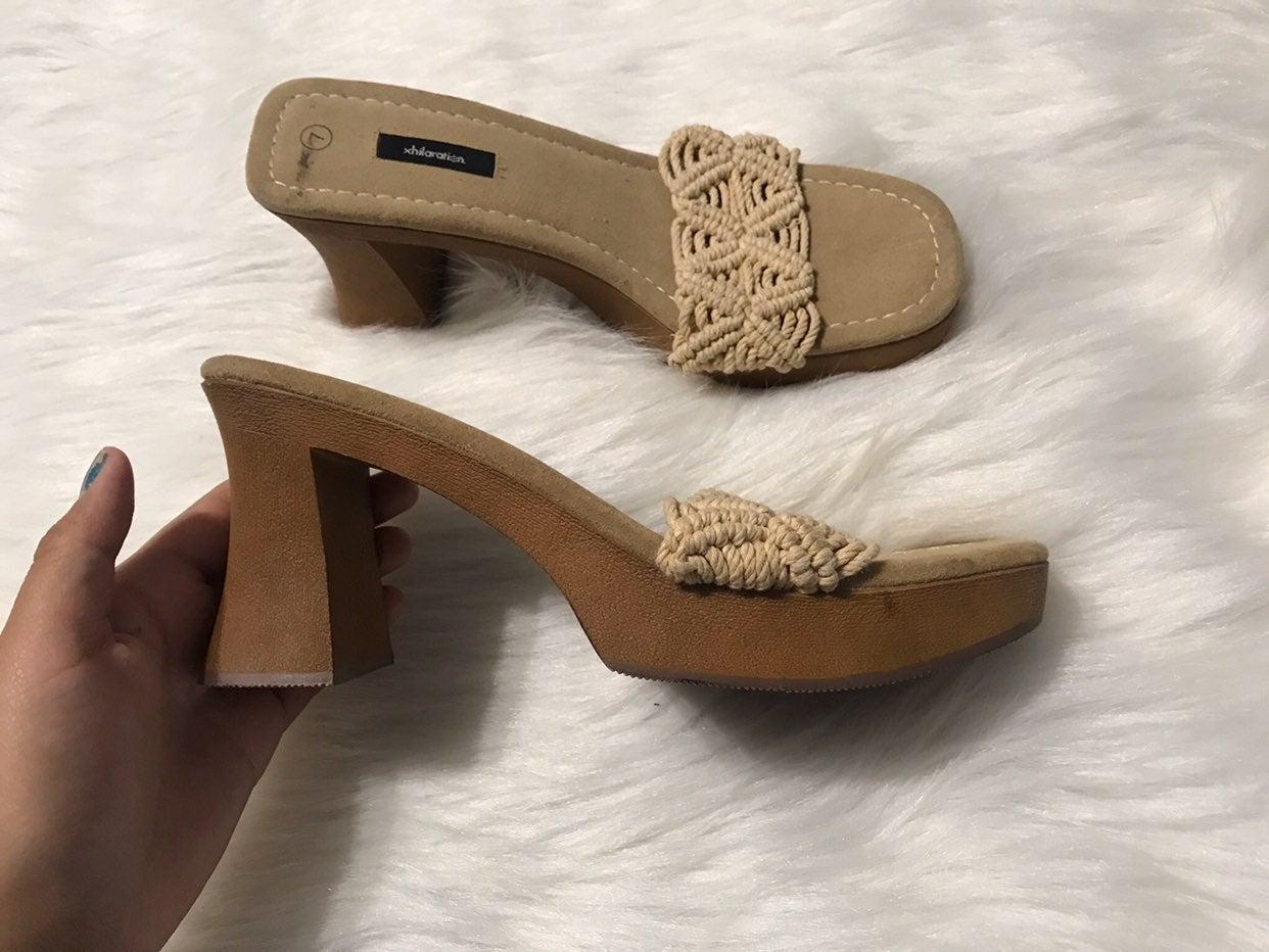 Vintage Y2K Xhilaration Tan Heels