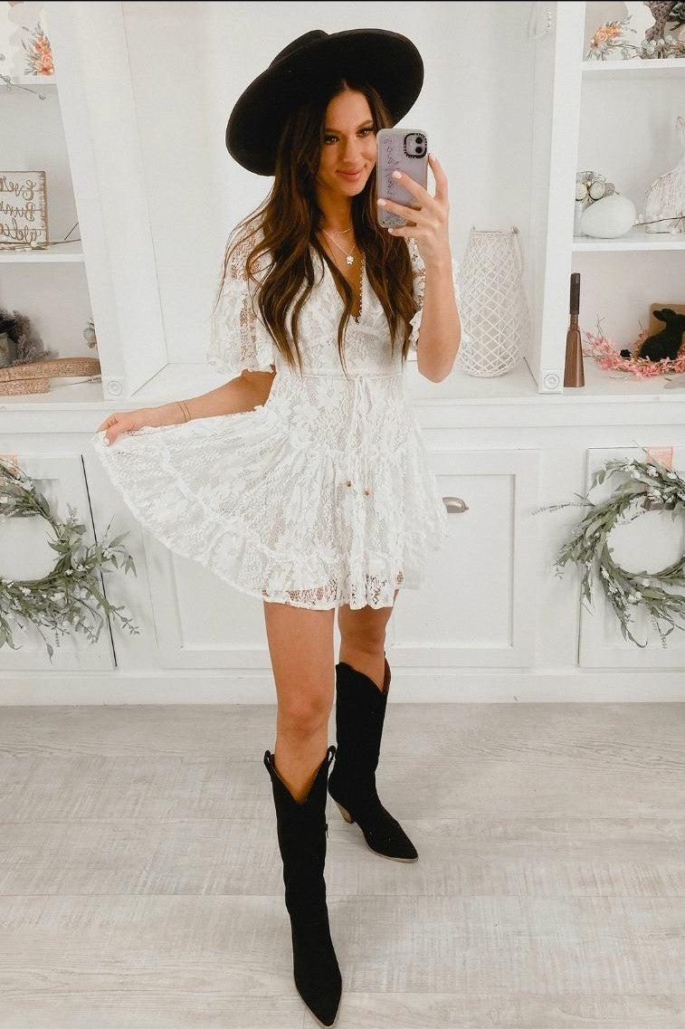 Lace dress size small