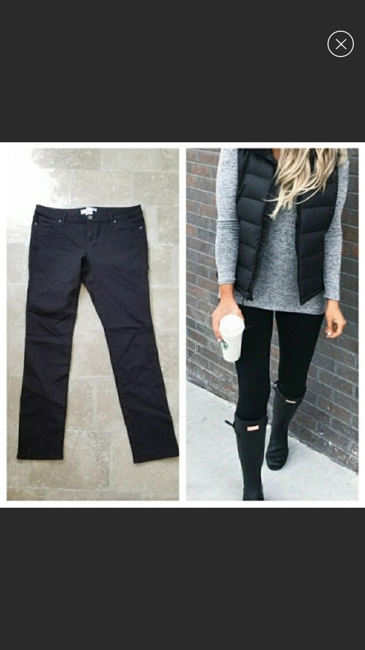 Size 15 Black Stretch Jeans Jeggings