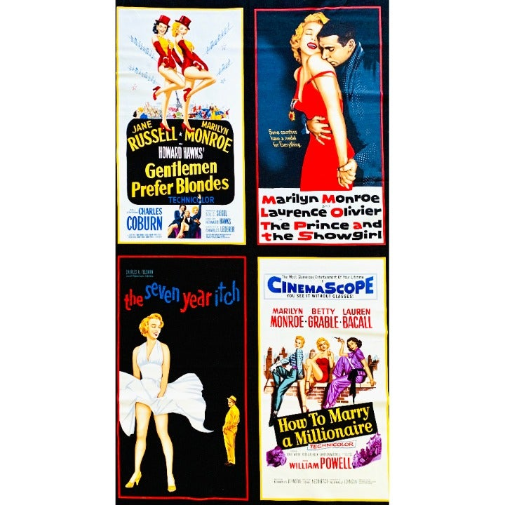 """Hollywood Icons Fabric Panel by Robert Kaufman D#1444 100% Cotton 2/3 Yard x 45"""""""