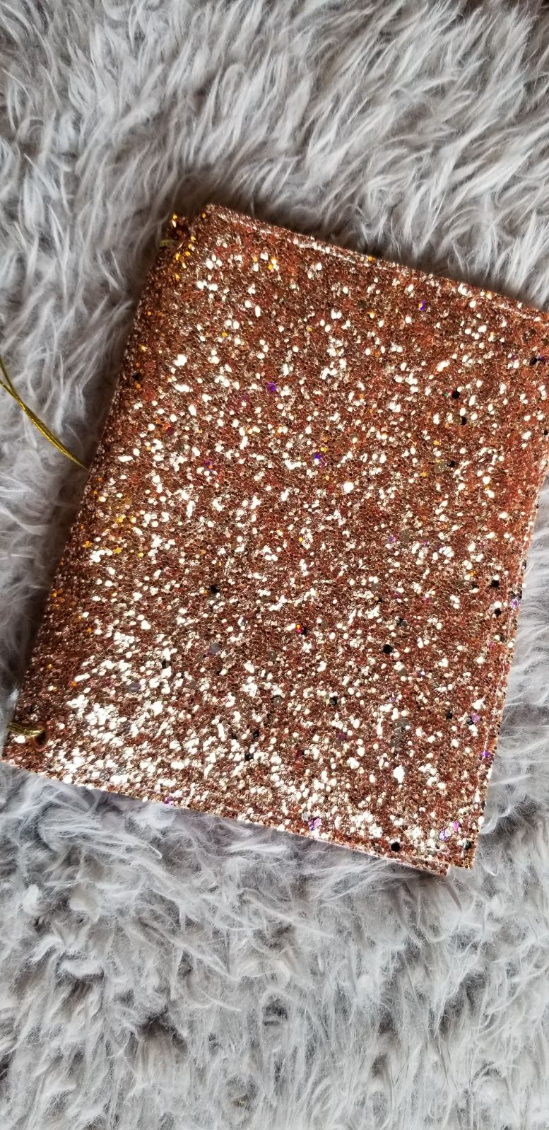 Handmade Rose-Gold A6 TN Sparkly Planner
