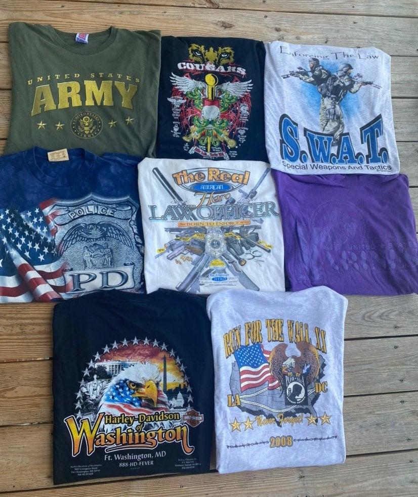 Vintage Police/Military Shirt Bundle