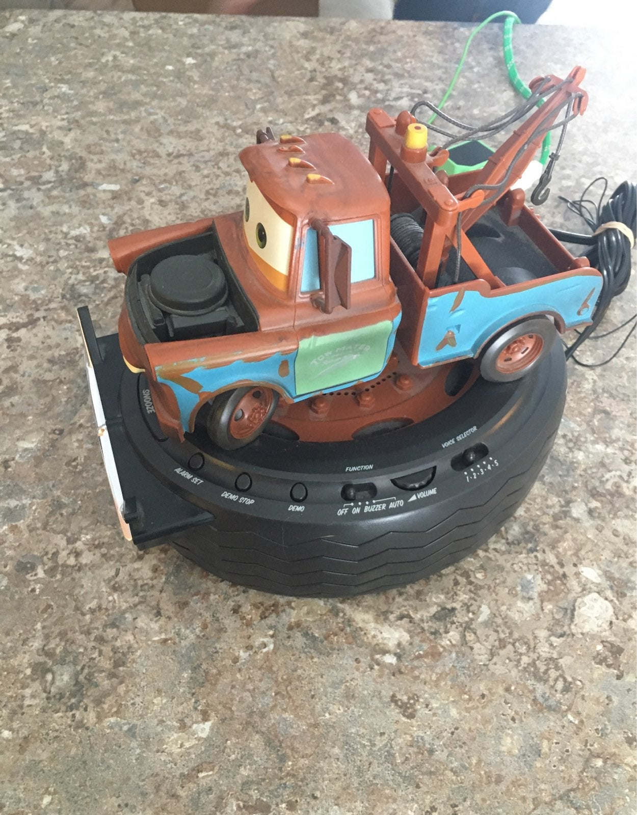 Disney Pixar CARS Mater Clock Radio